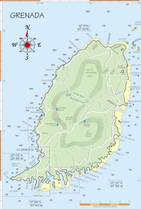 Grenada - Grenada atlas map
