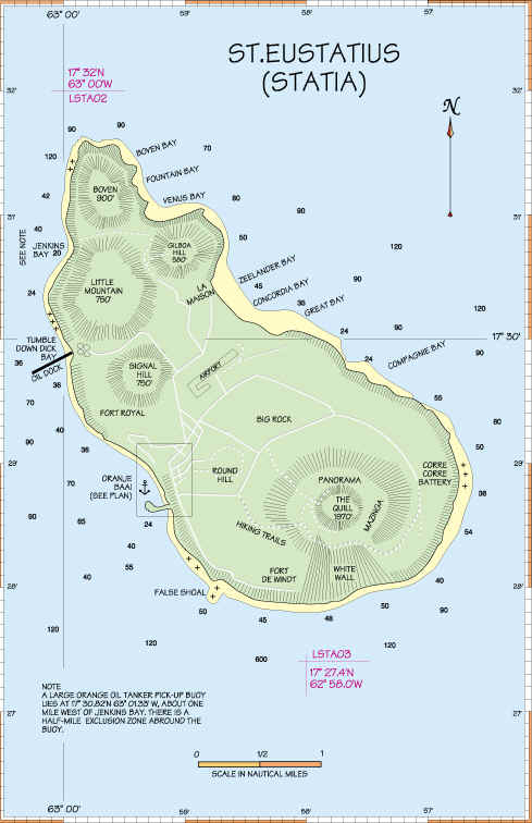St Eustatius Statia - Sint eustatius map